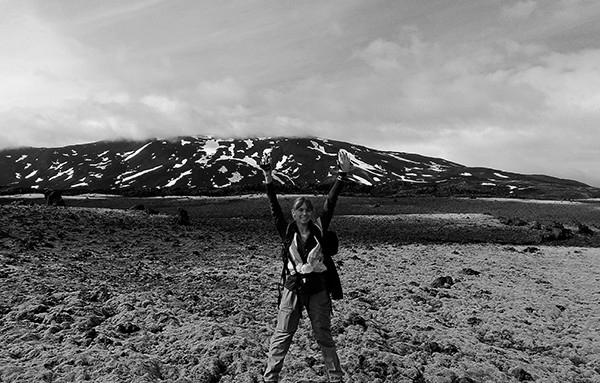 Catherine Hanagan, an undergraduate student in the College of Earth and Mineral Sciences, conducted fieldwork in Iceland through